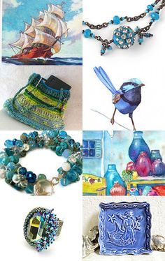 There's Art in Them There Blues by Carol Schmauder on Etsy--Pinned with TreasuryPin.com