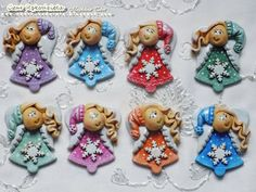 Salt Dough, Clay, Angel, Christmas Ornaments, Holiday Decor, House, Ideas, Cold, Therapy