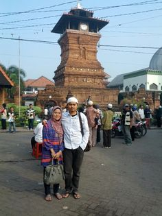 """there we are... with my mom... in front of the """"menara"""" so holly... next.. we hope we can see the """"ka'ba"""" in mecca.. amienn"""