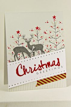 Christmas Greetings Card by Erin Lincoln for Papertrey Ink (September 2014)
