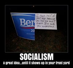 Bernie Sanders Sign Defaced in Illinois - vandals leave educational message.