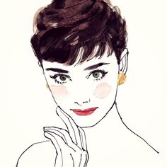 オードリー・ヘップバーン #illustration #portrait #audreyhepburn #イラスト #イラストレーター #似顔絵 #オードリーヘップバーン Illustration Sketches, Illustrations And Posters, Audrey Hepburn Kunst, Celine, Cool Sketches, Fashion Sketches, Creative Art, Watercolor Art, Illustrators