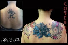 #cover #coverup #coveruptattoo #tattoo #tatuaggio #copertura #ink #inked #pinerolo #pinerolotattoo #piemontetattoo #torinotattoo #kattiusciacavaliere #fiorediloto #flowers #flowerstattoo