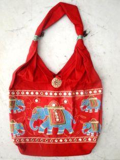 Traditional Ethnic Elephant Design Embroidery Indian Rajasthani Art Deco Tote Ladies Fashion Sling Cotton Purse Handbag by Krishna Mart India, http://www.amazon.com/dp/B005M9F5WW/ref=cm_sw_r_pi_dp_-nIVpb1CQT9DA