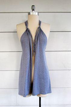 Como fazer um colete com camiseta sem costura - Dica de reciclagem e customização para o verão ~ VillarteDesign Artesanato