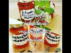 Marmelády z domácí pekárny | Jahodovo-malinová marmeláda | meruňková | Videorecept | CZ/SK HD recipe - YouTube Honest Tea, Pickling, Salsa, Jar, Canning, Youtube, Food, Chow Chow, Essen