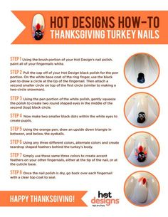 #ManicureMonday -How to get #Thanksgiving #Nail Art