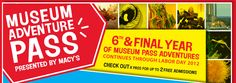 2012 is last year of free admission to museums (for 2 - stop at library first to check out pass, if available. first come, first served).