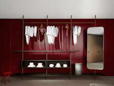 Modular walk-in wardrobe / contemporary / wooden / metal BOUTIQUE MAST Porro