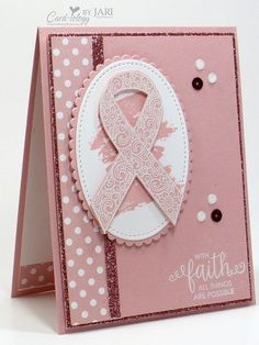 Stampin' Up! Ribbon of Courage Card-iology By Jari
