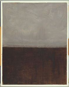 Mark Rothko, Untitled (Brown and Grey), 1969 Famous Abstract Artists, Paintings Famous, Abstract Painters, Watercolor Artists, Indian Paintings, Abstract Oil, Oil Paintings, Watercolor Painting, Landscape Paintings