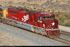 Katy Heritage UP 1988 Union Pacific EMD SD70ACe at Beaumont, California by Mojavesubmp347.0