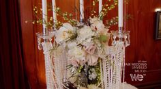 """""""My Fair Wedding: Unveiled"""" Recap - Mermaid Bride, PEARLS drapping flowers and candles"""