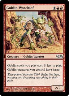 2x Goblin Warchief PL MTG Scourge Magic