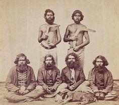 Fine Art Print of Aboriginal Men, c.1870 by Australian Photographer