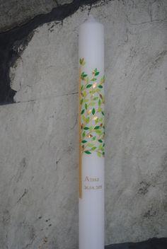"Tauf-/+Kommunionskerze+""Lebensbaum""+gold/grün+von+Hänsel+&+Gretel+Candleart+auf+DaWanda.com Party Pictures, Pin Collection, Origami, Style Inspiration, Etsy, Handmade, Wax, Crafting, Green And Gold"
