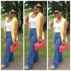 Your fashion inspiration! ig.. Nu'Kouture_ Fashion_Inspiration I am Nu'Kouture Fashion! Yaasssssss  Vest....WHBM  Pants....Michael Kors  Shoes....Chinese Laundry  Bag....Michael Kors Tank....Target  Necklace....Talbots