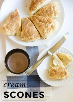 Freckles in April: I Have to Sew a Huge Curtain + A Recipe for Cream Scones My Recipes, Bread Recipes, Cooking Recipes, April Recipe, Cream Scones, No Bake Desserts, Freckles, Baked Goods, Tea Time