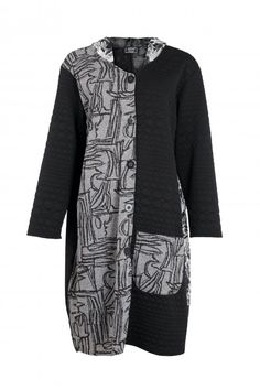 Shop AKH Women's Patchwork Long Jacket from idaretobe UK online stockist. Paisley Design, Long Jackets, Jacket Style, Nice Dresses, Plus Size, Autumn, Stylish, My Style, Coat