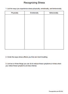 Printables Anxiety Worksheet introduction to anxiety preview counseling pinterest help your clients begin recognize the warning signs of stress with recognizing worksheet in this activity