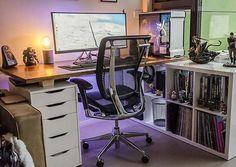 34 besten workstations bilder auf pinterest b roeinrichtung computer und schreiben. Black Bedroom Furniture Sets. Home Design Ideas