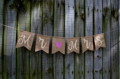 Your place to buy and sell all things handmade Burlap Banner Wedding, Burlap Garland, Just Married Banner, Custom Banners, Rustic Feel, Birthday Celebration, Photo Props, Wedding Decorations