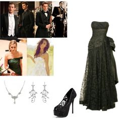 Ball w/ the Mikaelson family by hobbitsandelves on Polyvore featuring polyvore fashion style Kvoll 1928 Jennifer Behr Elijah