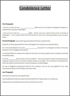 A letter of condolence can help you in being with your closed one in the time of trouble when you can't physically reach them. A condolence letter template is a letter which express your sympathy Letter Template Word, Letter Templates Free, Resume Template Free, Condolence Letter, Letter To Boss, Good Resume Examples, Deepest Sympathy, Business Letter