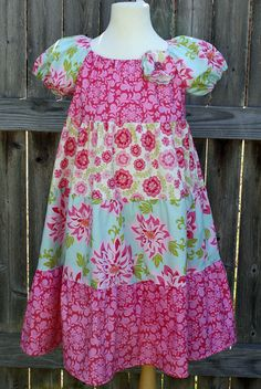 Amelia Peasant Dress by fluffygirlboutique on Etsy, $49.99