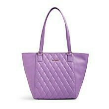 Quilted Small Ella Tote in Lavender.