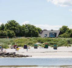 Kleines Strandhaus an der Stein: 2 Schlafzimmer, für bis zu 4 Personen. Direkt am Strand mit Seeblick   FeWo-direkt