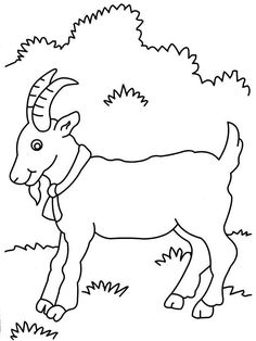 Printable Goat Coloring Page Sketch