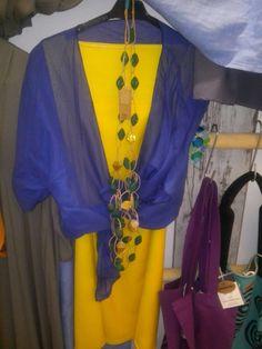 Mydream tasarimi sari elbise ve mavi bolero🤗👗