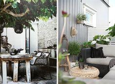 Terrazas decoradas en blanco y negro : via MIBLOG
