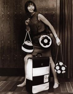 Mod Girl, Mary Quant, Nostalgic Images, Travel Bag, Mom And Dad, 1960s, The Selection, Shoulder Bag, Handbags