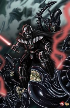 AVV_Aliens VS Vader by WiL-Woods on DeviantArt