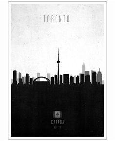 Toronto Contemporary Cityscape VON Calm The Ham now on JUNIQE!