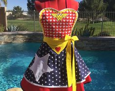 Wonder Woman Inspired Sassy Apron Cosplay Girls and by sassyapron