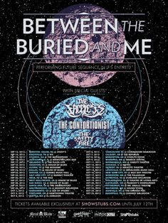 BETWEEN THE BURIED AND ME announce Fall tour; - #AltSounds