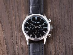 Our gorgeous Heritage Chronograph in Steel/Black
