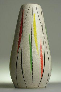 Scheurich Foreign West German Pottery Ceramics Modernistic Mid Century Vintage