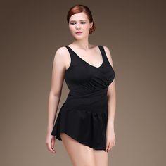 ffc74876601 Aliexpress.com   Buy Plus Size One Piece Sexy Woman Swimsuit Big Size U  shape Back Bathing Suit Skirt Design Swim Dress V Neck Big Breast Style 6XL  from ...
