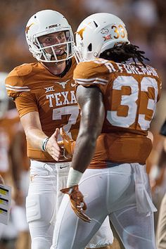 QB Shane Buechele and RB D'Onta Foreman