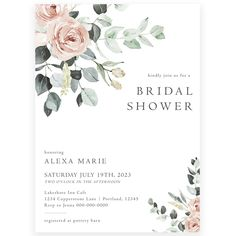 Floral Bridal Shower Invitation | Forever Your Prints