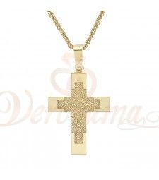 Σταυρός ανδρικός χρυσός Κ14 ST_091 Symbols, Glyphs, Icons