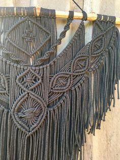 Large Macrame Wall Hanging This beautiful and unique wall hanging will add a lovely handmade element to any room in your home. With a couple of hundred meters of cotton rope woven into her bones, it is a statement piece that will flood your home with energy and inspiration. Made with