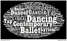 Creating Dance Word Art...