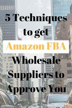 Get 5 techniques to get Amazon FBA wholesale suppliers to approve you to sell their products. #amazonFBA #amazonwholesale #onlineselling Make Money On Amazon, Sell On Amazon, Amazon Gifts, Make Money Online, How To Make Money, Amazon Online, What To Sell, Buying Wholesale, Wholesale Products