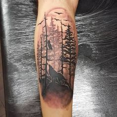 12+ Forest Tattoos On Leg
