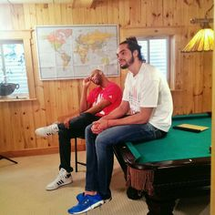 Joakim Noah & Taj Gibson, I want to hang out with them! Taj Gibson, Joakim Noah, Chicago Bulls, Man Crush, Hanging Out, Hot Guys, Athletes, Model, Crushes